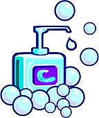 Clipart of Foam Or Liquid Soap k15061175.