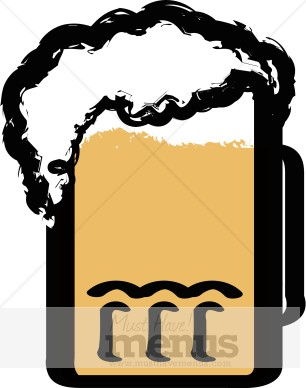 Foaming Beer Mug Clipart.