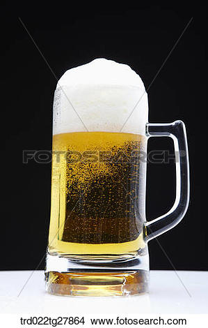 Stock Photo of draft beer with foams trd022tg27864.