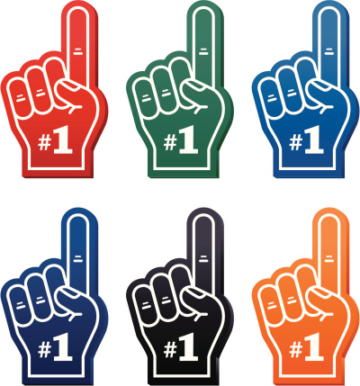 Clipart finger number one.