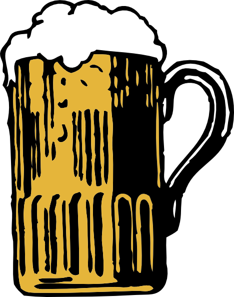 Foamy Mug Of Beer clip art Free Vector / 4Vector.