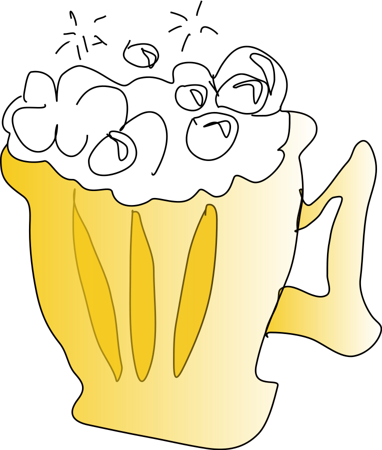 Cool Foamy Beer Clipart, vector clip art online, royalty free.