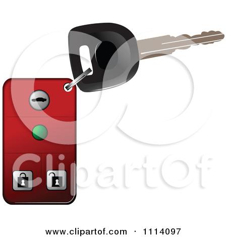 Clipart of a Car Key Fob.