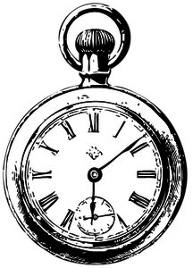 351 pocket watch vector clipart.