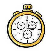 Fob watch clipart.