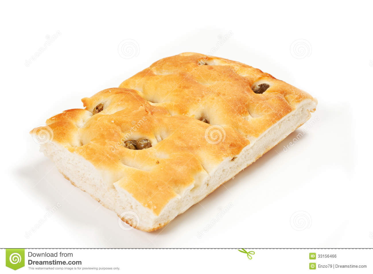 Focaccia Bread Royalty Free Stock Image.