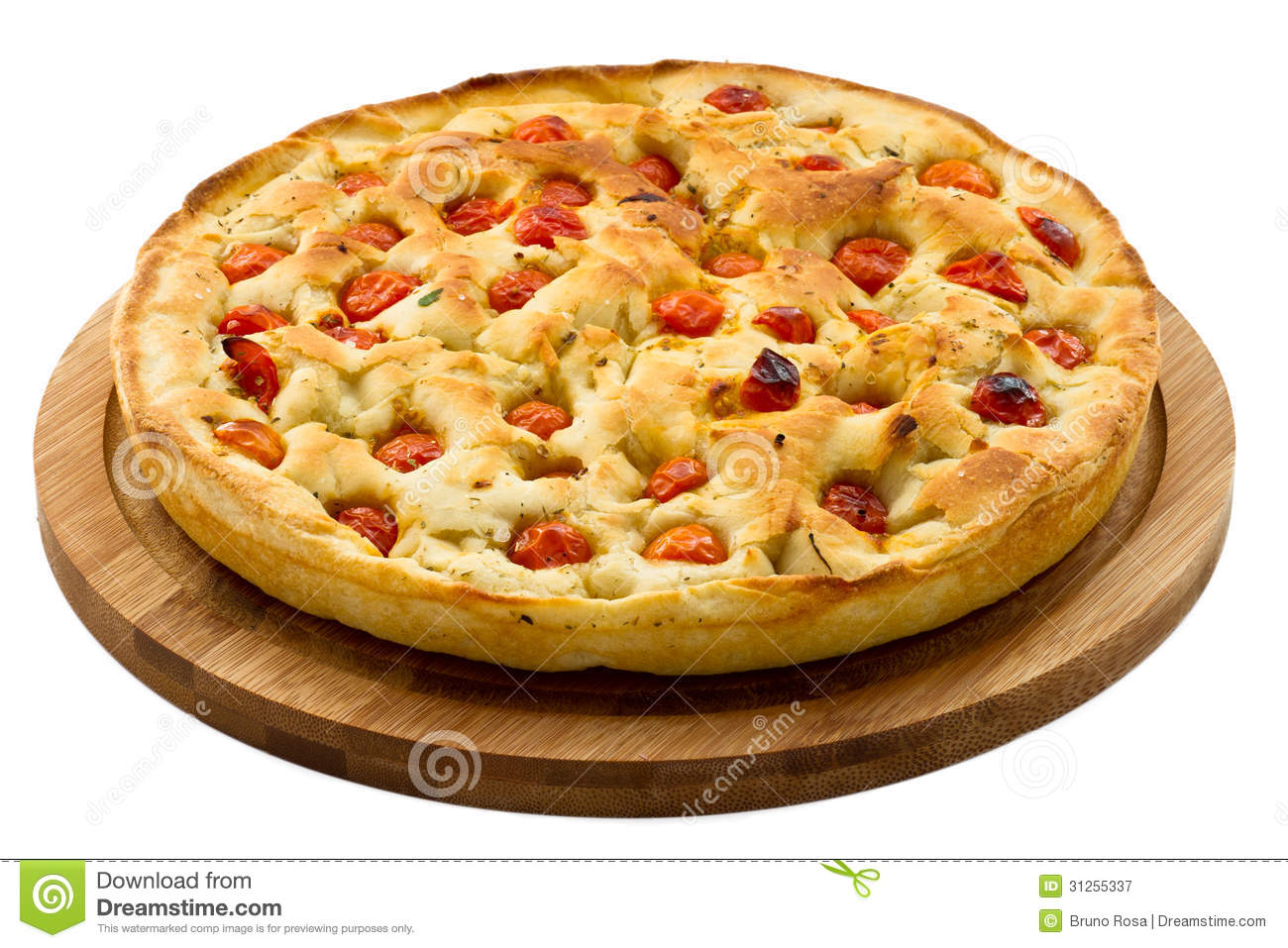 Bread Dough Focaccia. Italian Food Stock Image.