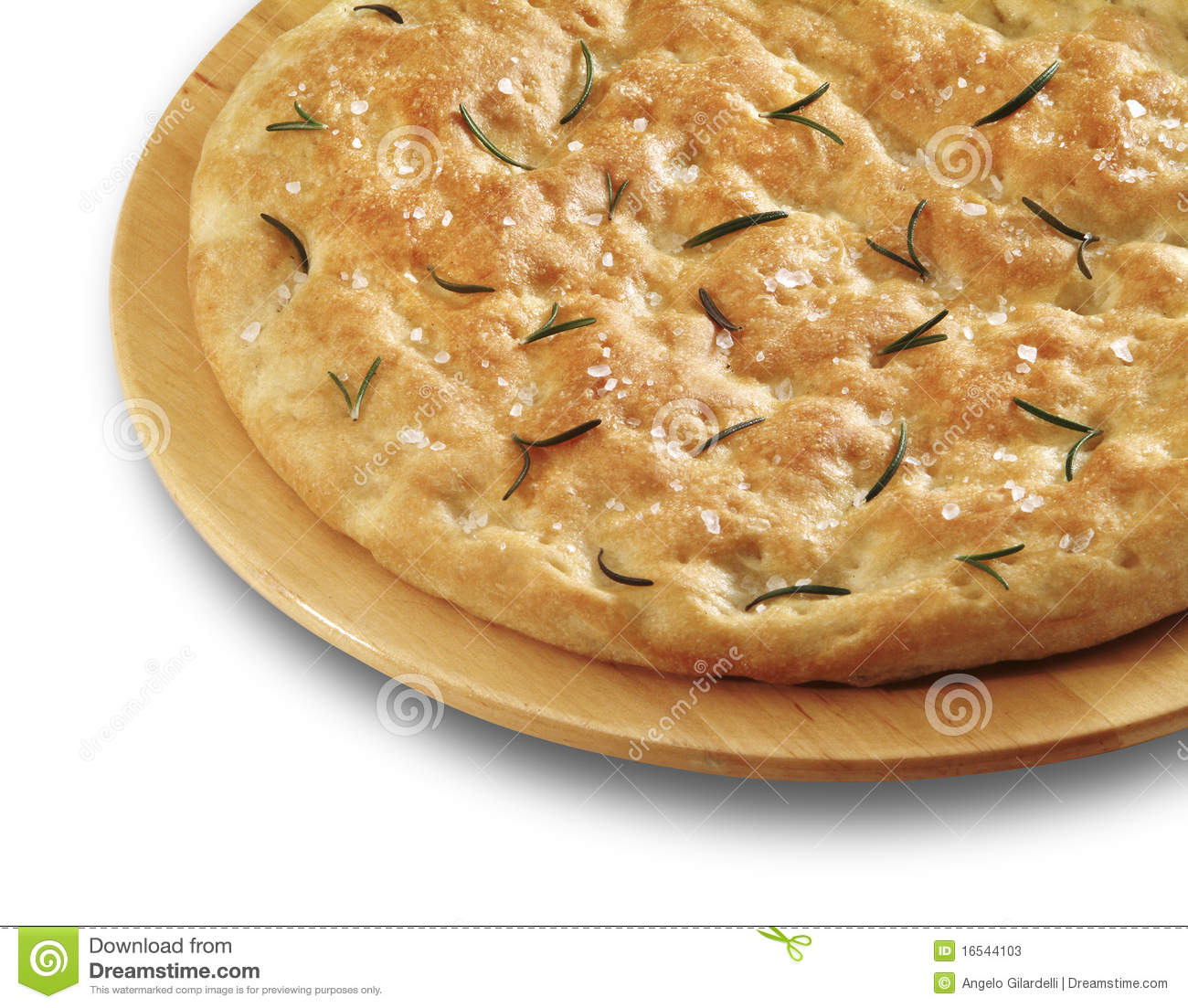 Italian Focaccia Stock Photos.
