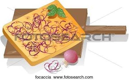 Stock Illustrations of Focaccia focaccia.