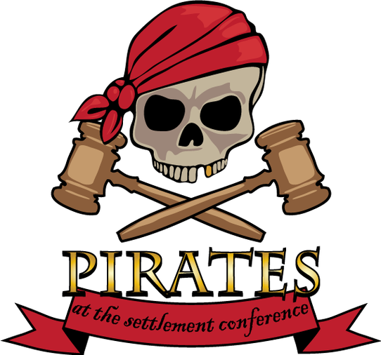 Focal Point Pirates At The Settlement Conference Clipart.