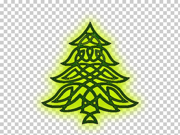 árbol de navidad celtas celta nudo celta arte, focos PNG.