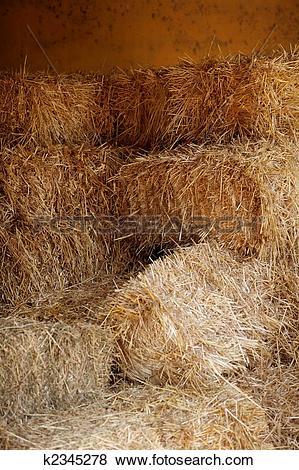 Pictures of Golden straw barn stacked k2345278.