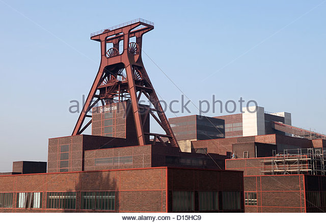 Bauhaus Architecture Zeche Zollverein Unesco Stock Photos.