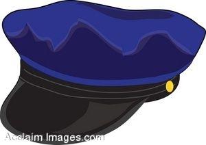 Clip Art of a Policeman's Cap.