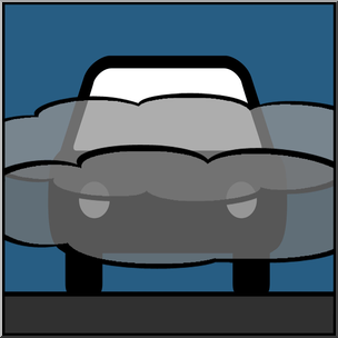 Clip Art: Weather Icons: Fog Color Unlabeled I abcteach.com.