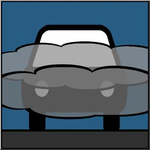 Clip Art: Weather Icons: Fog Color Unlabeled I abcteach.com.