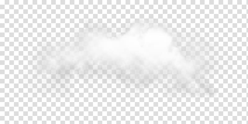 Cumulus White Desktop Computer Font, black fog transparent.