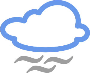 Cloudy Weather Symbols Clip Art at Clker.com.