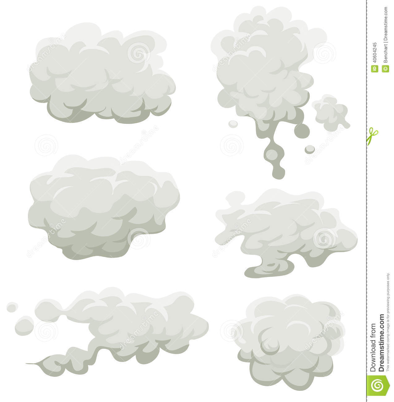 Fog Cartoon Clipart.