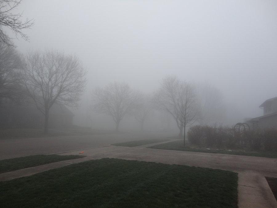 Foggy day clipart.