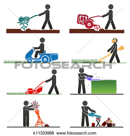 Clip Art of People Exterminator Pest Control k13973869.