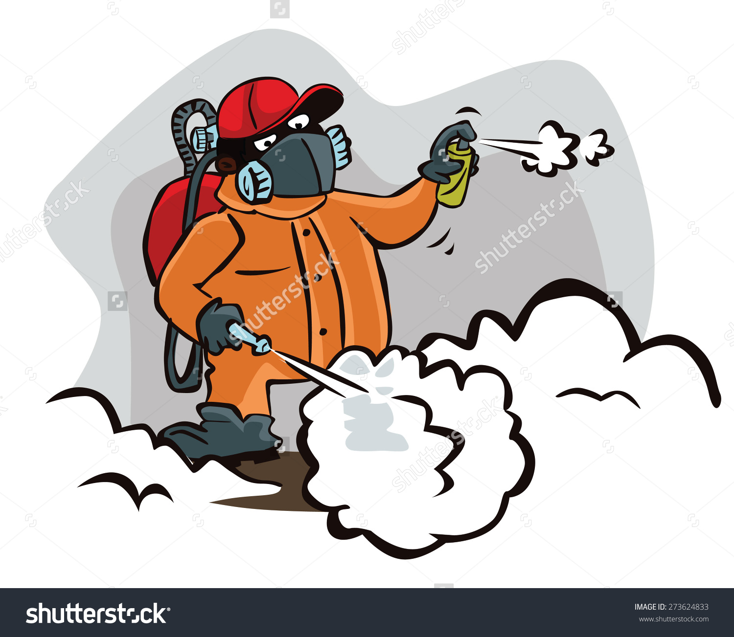 Pest Control Man Stock Vector 273624833.