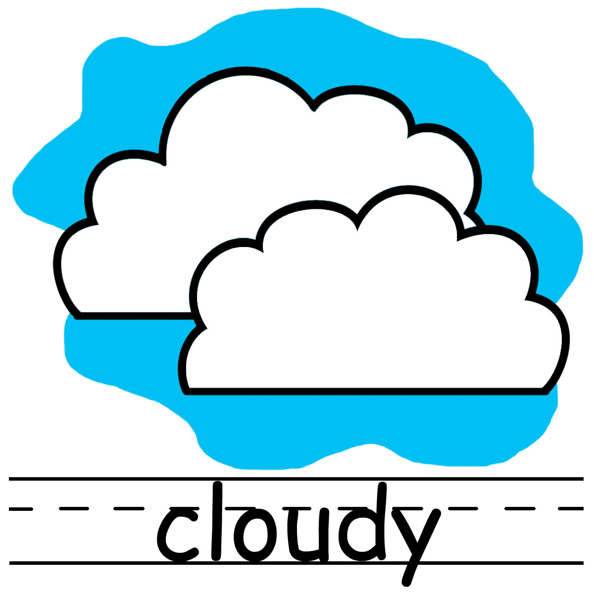 Windy foggy cloudy day clipart.