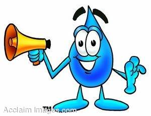 Stock Clip Art Illustration of a Waterdrop Cartoon Character.