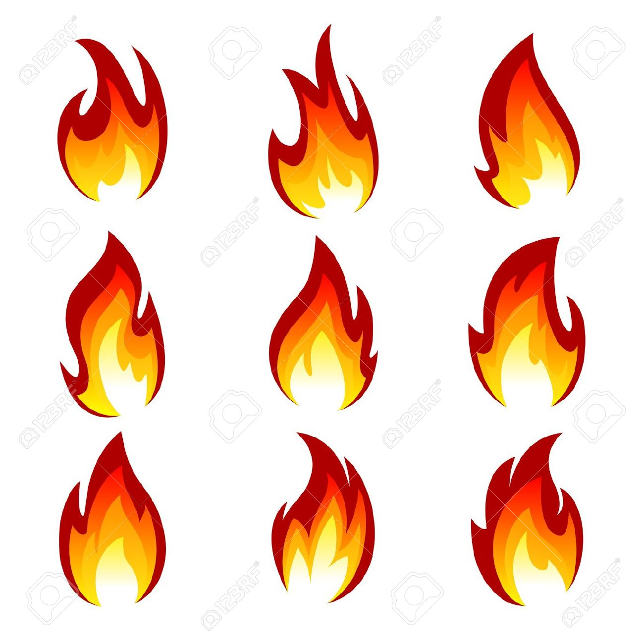 Clipart flames of fire.