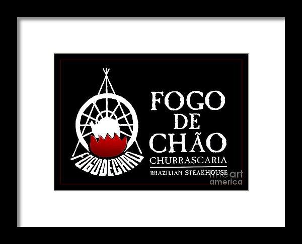 Fogo De Chao Sign Framed Print.