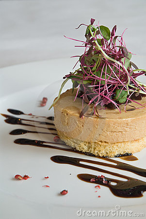 Foie Gras Appetizer Royalty Free Stock Image.
