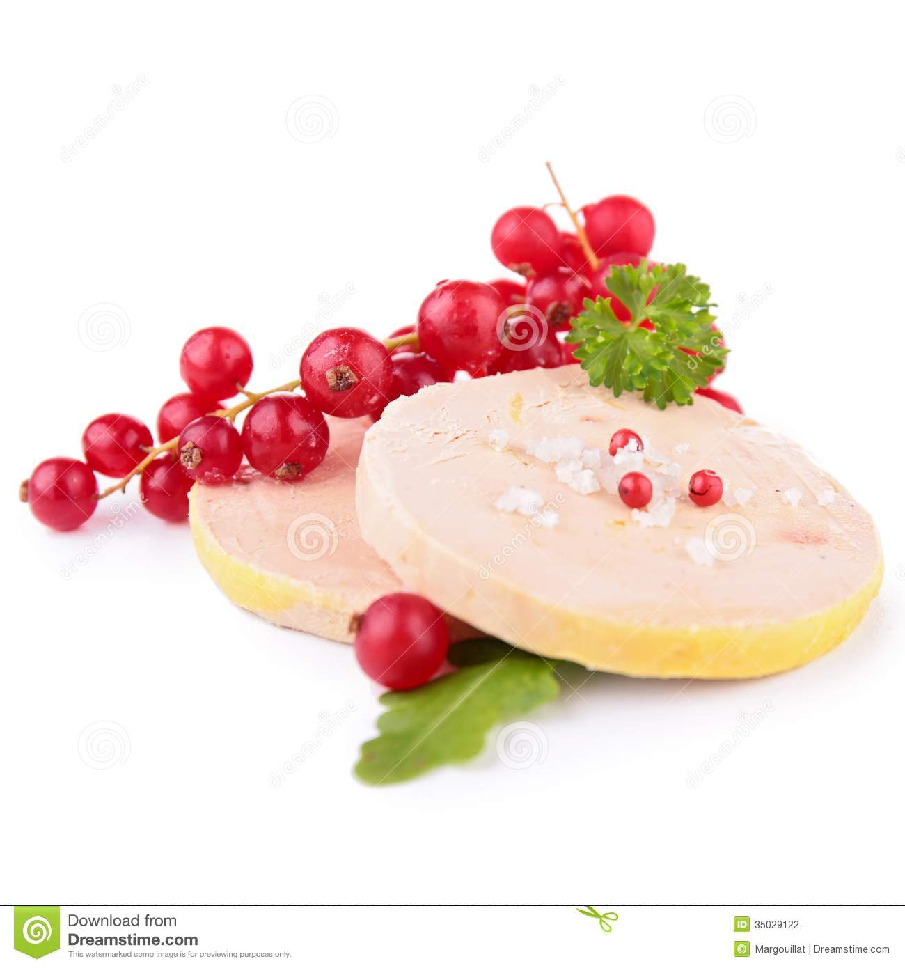 Foie Gras Isolated Royalty Free Stock Photo.