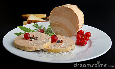 Plate With Foie Gras Stock Photos.