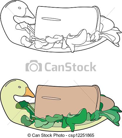 Clip Art Vector of liver pate.
