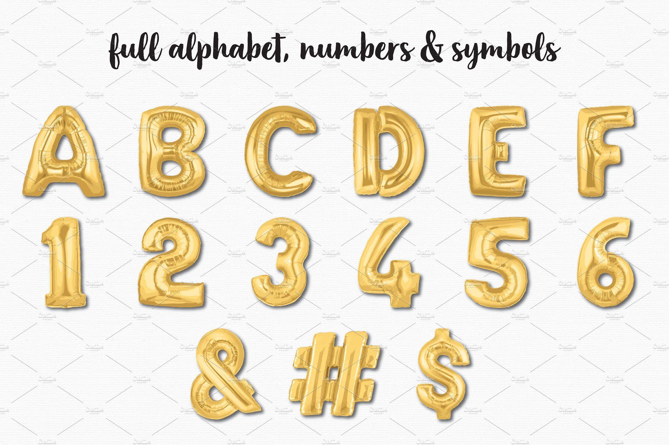 Gold Foil Balloon Bundle #popular#super#numeric#alpha.