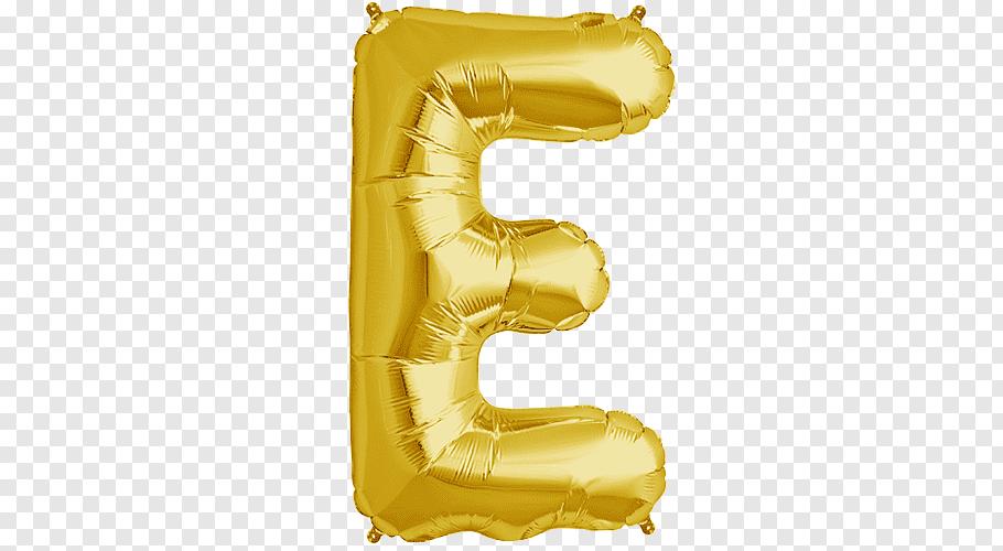 E inflatable letter, Mylar balloon Letter Gas balloon Gold.