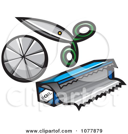 Clipart Scissors And Foil.