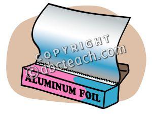 Aluminum foil clip art.