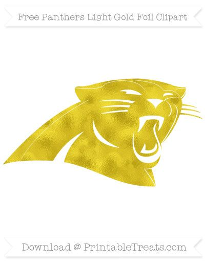 Free Panthers Light Gold Foil Clipart.
