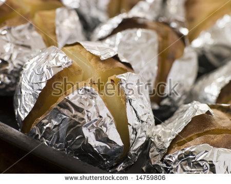 Foil Potato Stock Photos, Royalty.