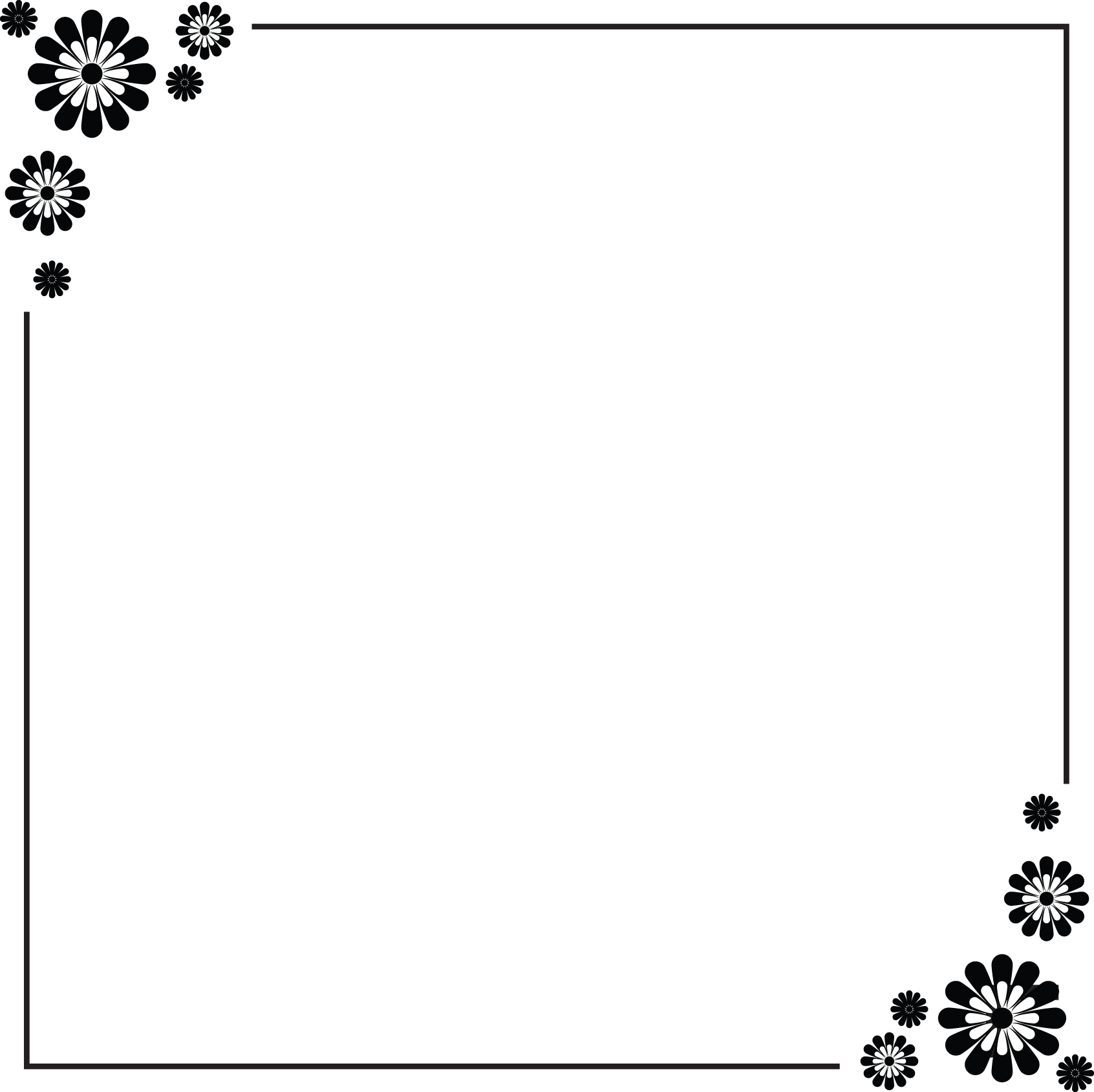 Simple Flower Border Designs For A4 Paper.