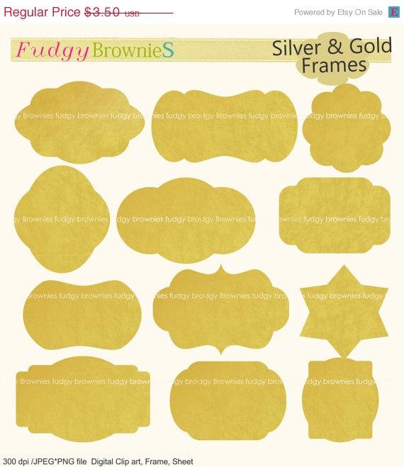 Gold foil frame.