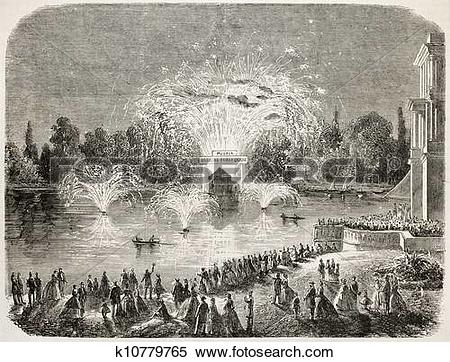 Stock Illustration of Feast in Fontainebleau k10779765.