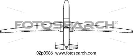 Clipart of global hawk top 02p0985.