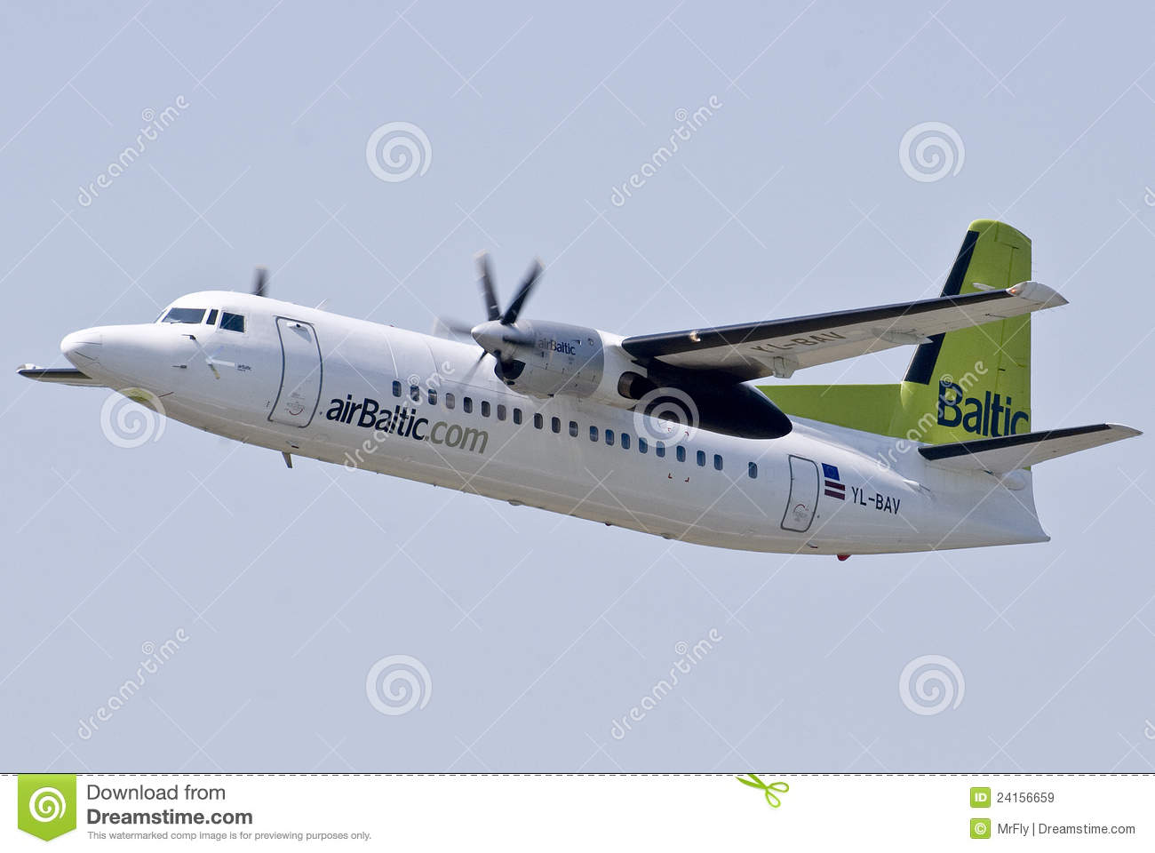 Fokker 50 Royalty Free Stock Images.