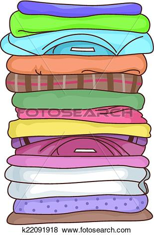 Fold clothes Clipart Royalty Free. 952 fold clothes clip art.