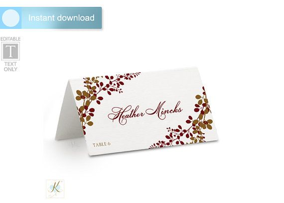 1000+ ideas about Place Card Template on Pinterest.