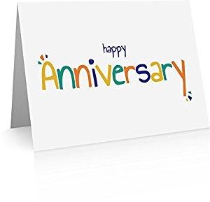 Amazon.com : Happy Anniversary Greeting Cards (20 Foldover Cards.