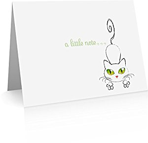 Amazon.com : Cat Foldover Note Cards (24 Foldover Cards and.