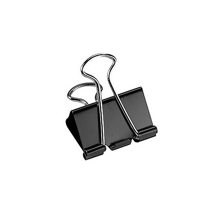 Office Depot Brand Binder Clips Medium 1 14 Wide 58 Capacity Black.